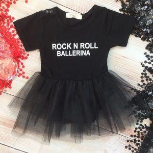 Other - Baby Girl ROCK N ROLL BALLERINA Tutu Romper